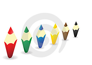 Multi-coloured Wooden Pencils Rowed Royalty Free Stock Photo - Image: 15313545
