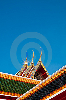 Roof Of Temple Stock Photo - Image: 15314310