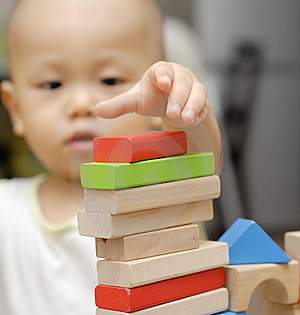 Wooden Toy Blocks Royalty Free Stock Photos - Image: 15315538