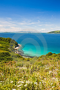 Summer Landscape, The Blue Sea Royalty Free Stock Photos - Image: 15315838