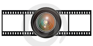 Film With Lens Royalty Free Stock Photography - Image: 15316927