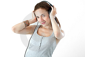 Teen Listening Music Royalty Free Stock Photo - Image: 15319635