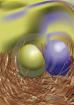 Egg In Nest Royalty Free Stock Photography - Image: 15319697