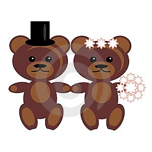 Pair Of Teddy Bears Royalty Free Stock Photography - Image: 15319817