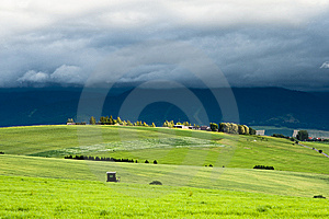 Meadows In Evening Royalty Free Stock Image - Image: 15320626