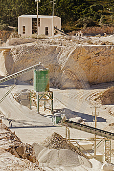 Sand & Stone Quarry Royalty Free Stock Photo - Image: 15320645