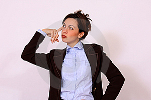 Business Woman Thinking Pose Royalty Free Stock Photo - Image: 15321055