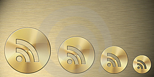 Rss Gold Symbol Royalty Free Stock Image - Image: 15321226