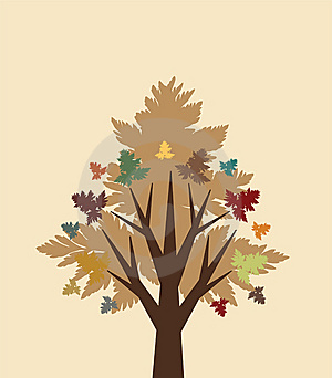 Abstract Autumn Tree Royalty Free Stock Photos - Image: 15321978
