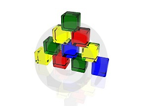 Pyramid Of Cubes Stock Image - Image: 15322811