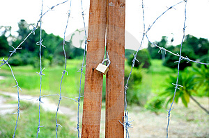 Barb Wire Door Royalty Free Stock Photography - Image: 15324477