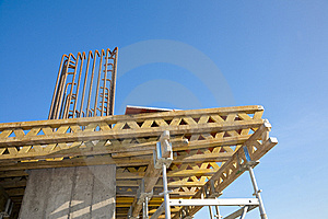 Scafolding Structure On A Construction Site Royalty Free Stock Photos - Image: 15325368