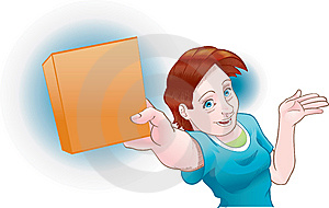Girl Shows Product Stock Image - Image: 15327481