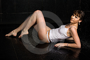 Sexy Wet Girl Royalty Free Stock Images - Image: 15327739