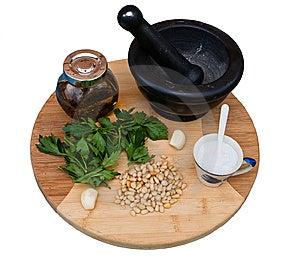 Ingredient For Pesto Stock Image - Image: 15328931