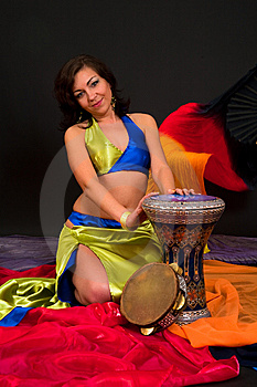 Belly Dancer Royalty Free Stock Image - Image: 15329126