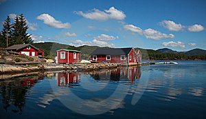 Beautifull Norway, Boats And The Boathouse Stock Photos - Image: 15330933