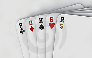 Poker Cards (neutral Background) Stock Image - Image: 15332551