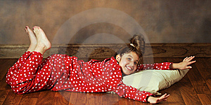 Happy In PJs Stock Images - Image: 15333714