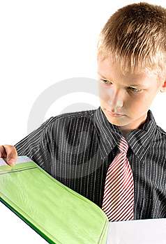 Teenager Reads Book Royalty Free Stock Image - Image: 15334946