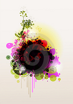 Colored Floral Frame Stock Images - Image: 15337484