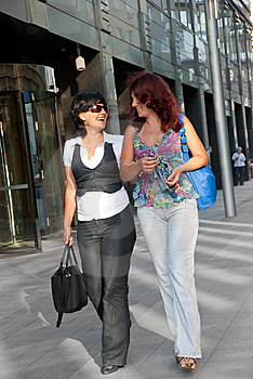 Pretty Women Walking Stock Photo - Image: 15337520