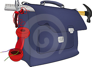School Satchel Royalty Free Stock Photo - Image: 15337875
