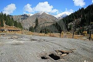 Broken Bridge On Road To Big Almaty Lake Royalty Free Stock Image - Image: 15339486