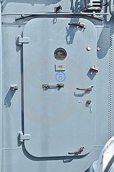 Metallic Door Of The Marine Ship Stock Photo - Image: 15340060