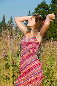 Enjoyment Of Sunlight Royalty Free Stock Image - Image: 15341216
