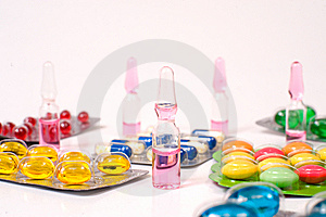 Various Pills Royalty Free Stock Photography - Image: 15341497