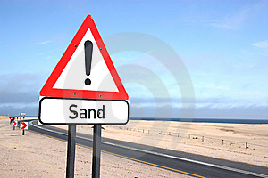 Sand Warning Sign Stock Photos - Image: 15342263