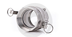 Stainless Steel Threaded Pipe Fitting Stock Photography - Image: 15343442
