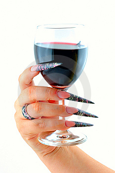 Manicure & Glass Of Wine Stock Images - Image: 15343524