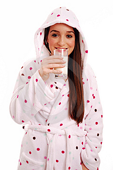 Drinking Milk Stock Image - Image: 15346151