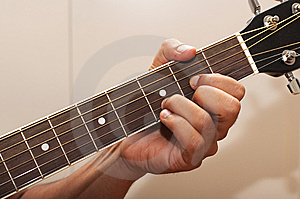 Guitar Chord D Royalty Free Stock Photo - Image: 15346285