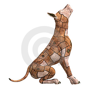 Rusty Scifi Dog Of The Future Royalty Free Stock Images - Image: 15346349