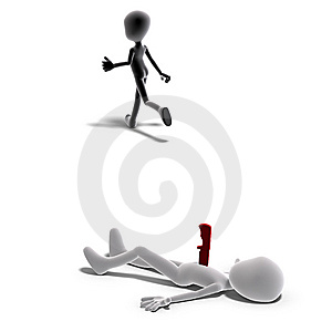 3d Male Icon Toon Character Is A Murderer Stock Photo - Image: 15346410