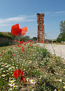 Water Tower And Wild Flowers Stock Photography - Image: 15347482