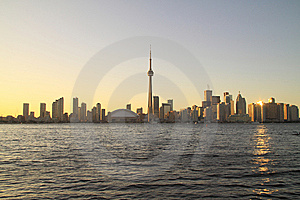 Toronto Cityscape From Central Island Royalty Free Stock Photo - Image: 15348345