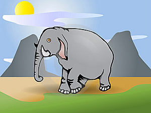 Gray  Elephant Stock Image - Image: 15349421