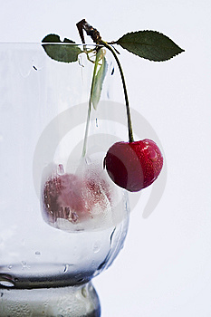 Wineglass With Cherry. Royalty Free Stock Image - Image: 15350076