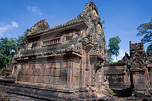 Banteay Srei Temple Royalty Free Stock Image - Image: 15351786