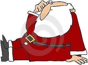 Puzzled Santa Sitting Stock Photos - Image: 15353533