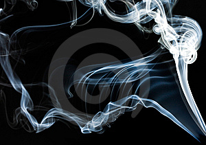 Blue Smoke On Black Stock Images - Image: 15353954