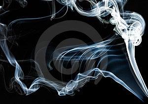 Blue Smoke On Black Stock Images - Image: 15353954
