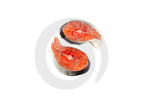 Slices Of A Fresh Crude Salmon Stock Photo - Image: 15354990