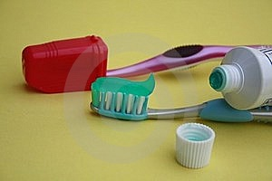 Tooth Brush And Tooth Paste Tube Royalty Free Stock Photos - Image: 15356278