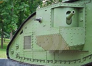 A British Mark V Tank (details) Stock Images - Image: 15358804