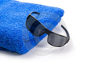 Towel And Sunglasses Royalty Free Stock Images - Image: 15361289